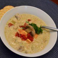 Chunky Chicken Mushroom Soup Recipe