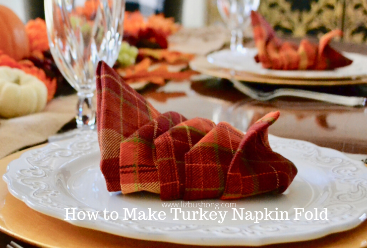 Turkey Napkin Fold Tutorial