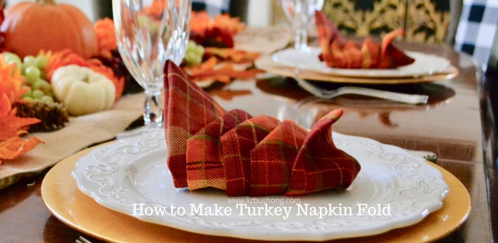 Turkey Napkin Fold Tutorial