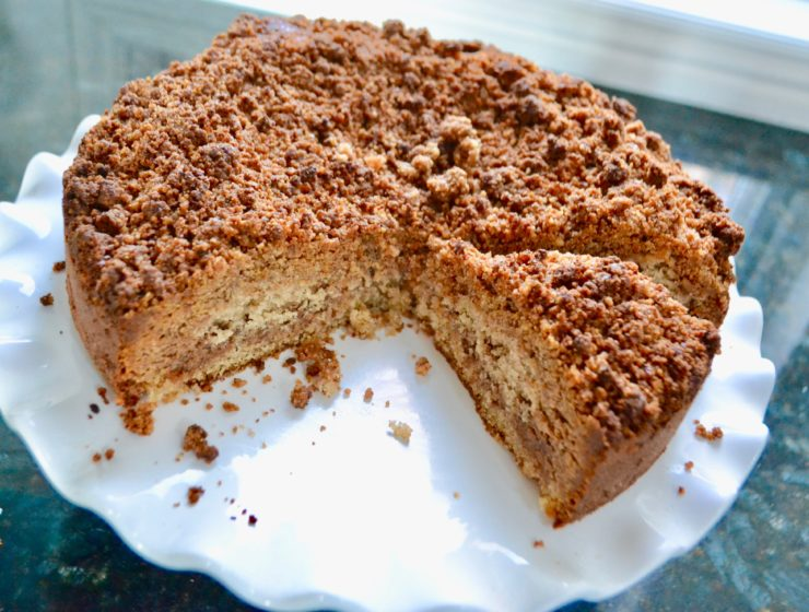 Moist Pecan Streusel Coffee Cake Recipe