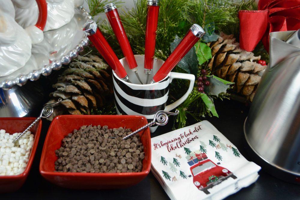 Christmas hot chocolate bar condiments lizbushong.com