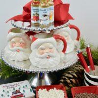 Hot chocolate bar with santa mugs.LIzbushong.com