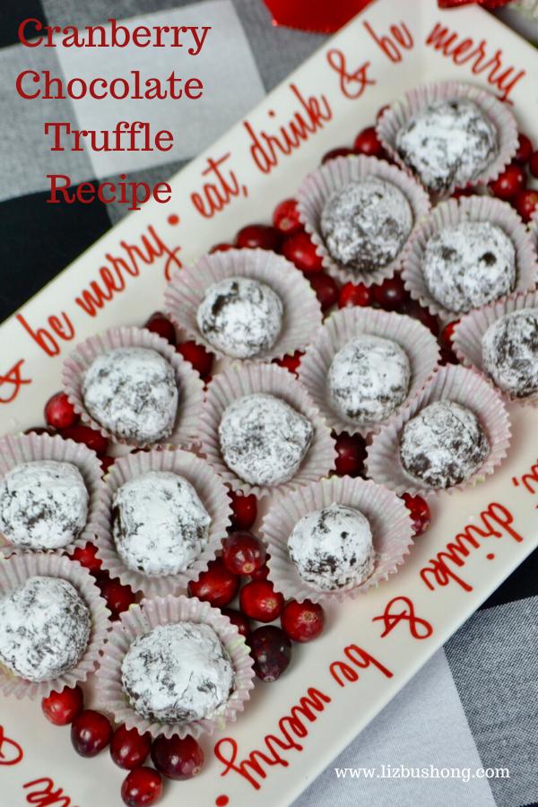 Cranberry Chocolate Truffles lizbushong.com
