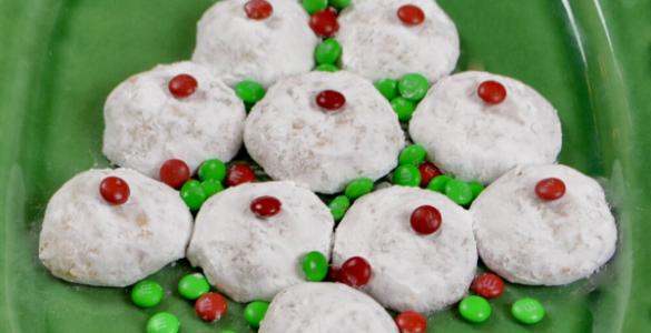 Ginger Orange Snow Dusted Cookie Recipe lizbushong.com