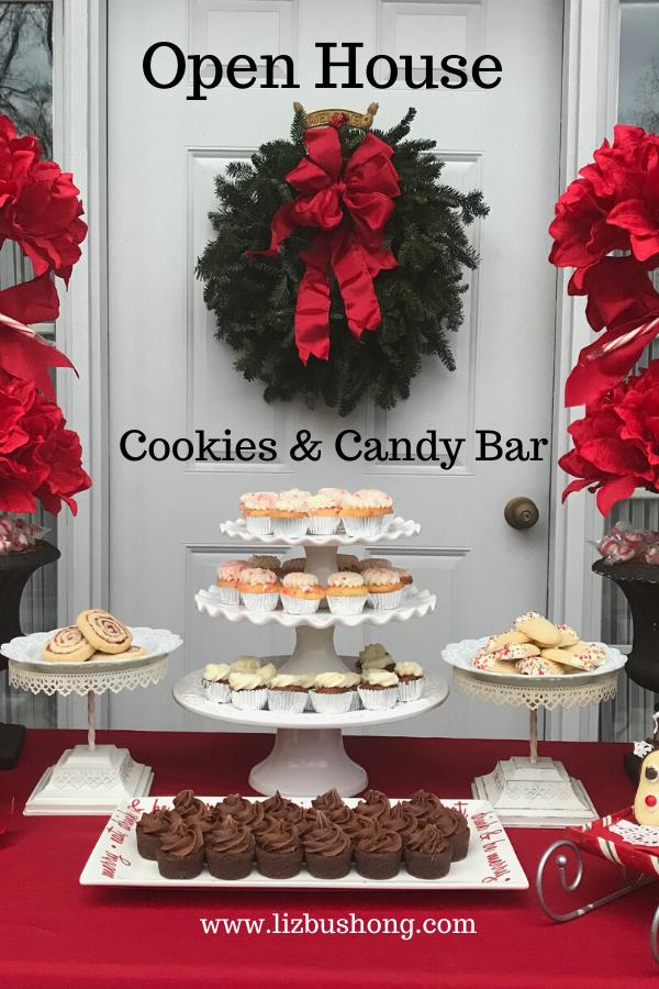 Hosting a Christmas Open House? Cookies & Candy Bar lizbushong.com