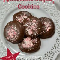 Best Peppermint Bark Chocolate Sugar Cookie Recipe lizbushong.com