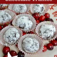 Cranberry Chocolate Truffle Recipe-lizbushong.com