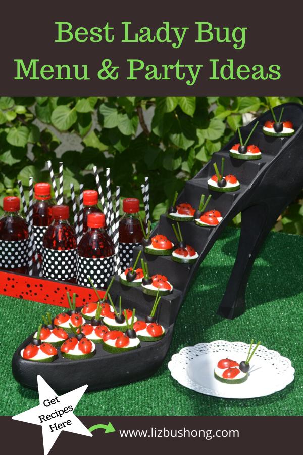 Best Lady Bug Menu Party Ideas lizbushong.com
