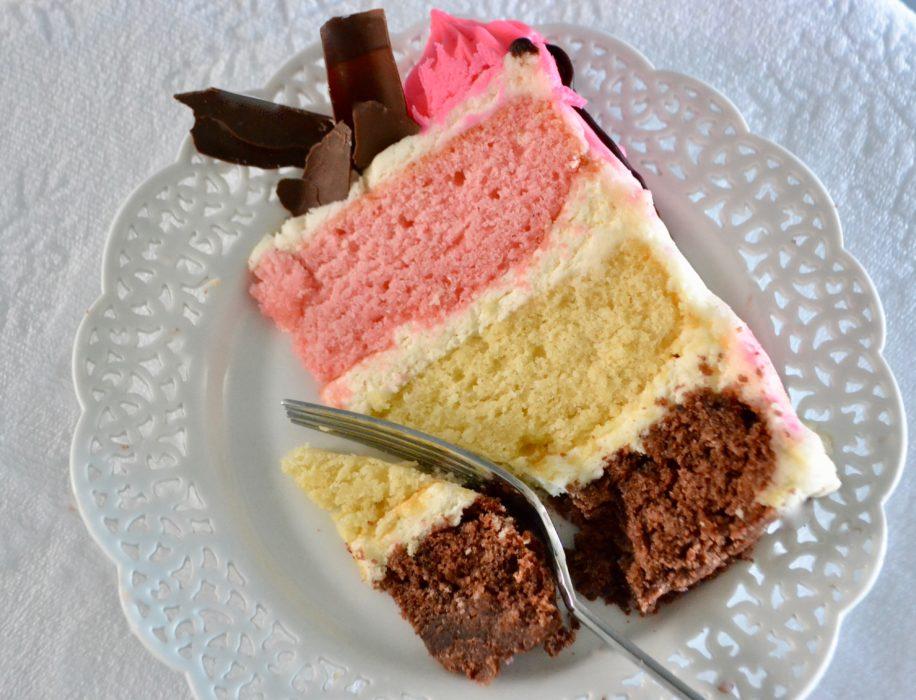Neopolitan Cake Recipe Slice lizbushong.com
