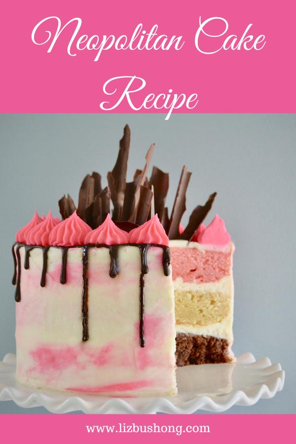 How to Make a Neopolitan Cake -lizbushong.com