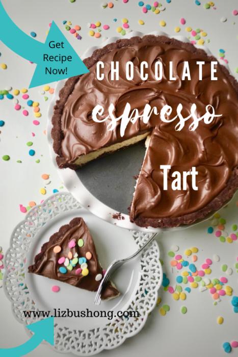 Easy Chocolate Espresso Tart Recipe lizbushong.com