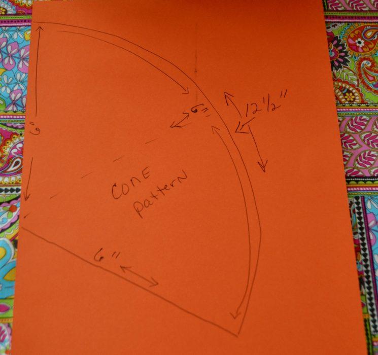DIY Paper Cone Pattern lizbushong.com