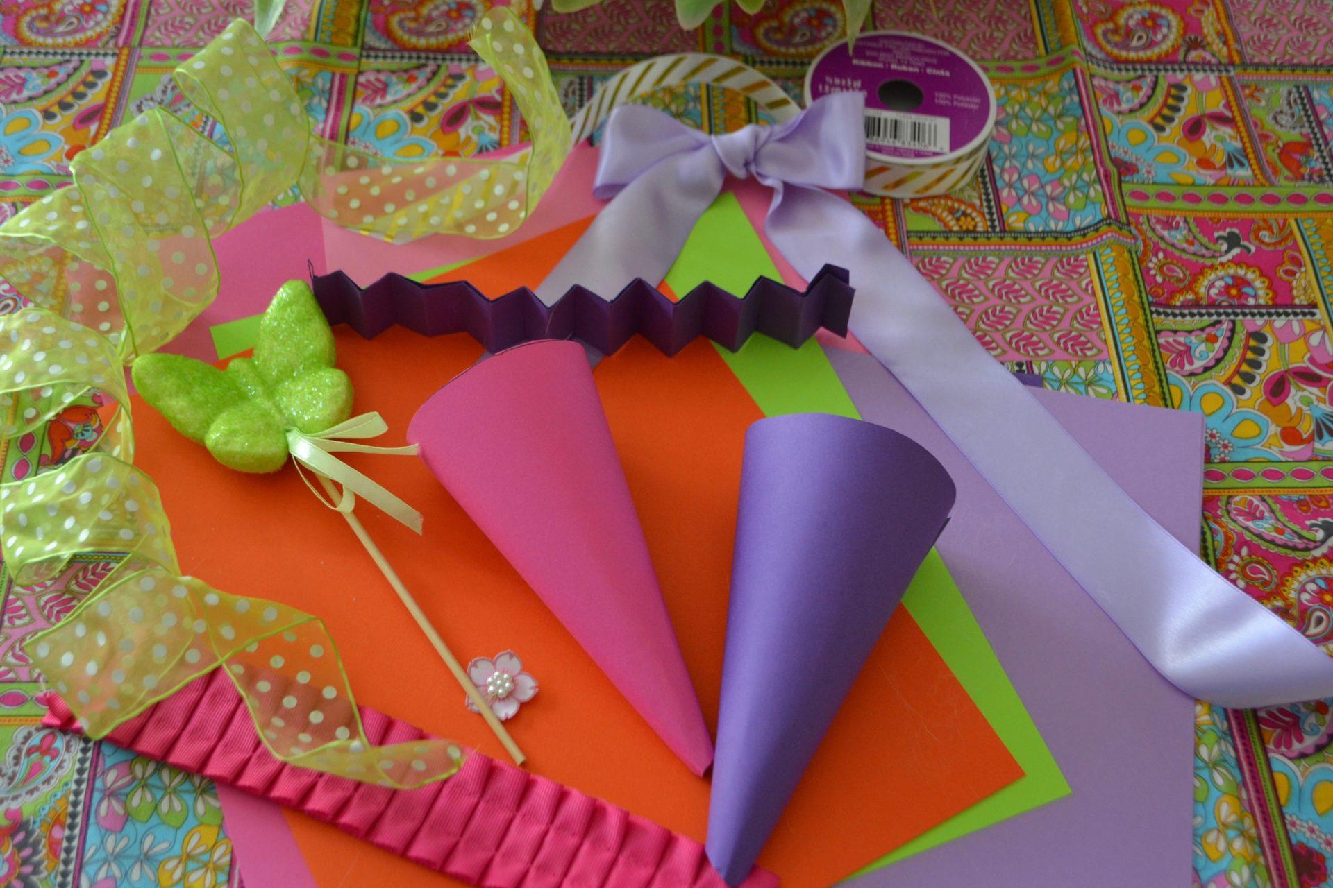 Diy Easter Candy Cone Favors Liz Bushong