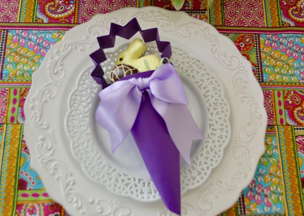 DIY Easter Candy Cone Favor lizbushong.com