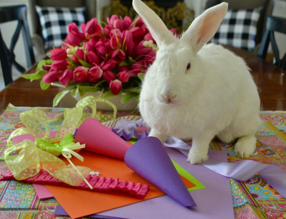 DIY Easter Candy Cones JJ the bunny lizbushong.com