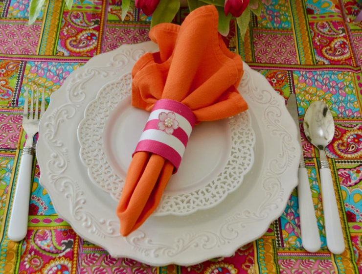 DIY Napkin Ring/5 Spring Table Setting Ideas lizbushong.com