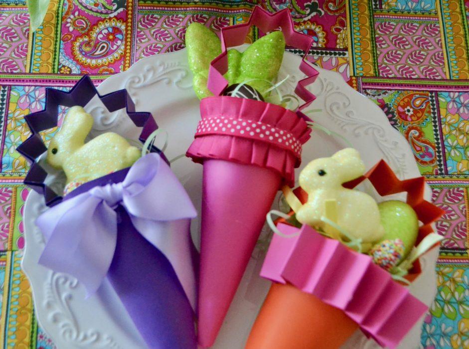 Easter DIY Candy Cone Favors lizbushong.com