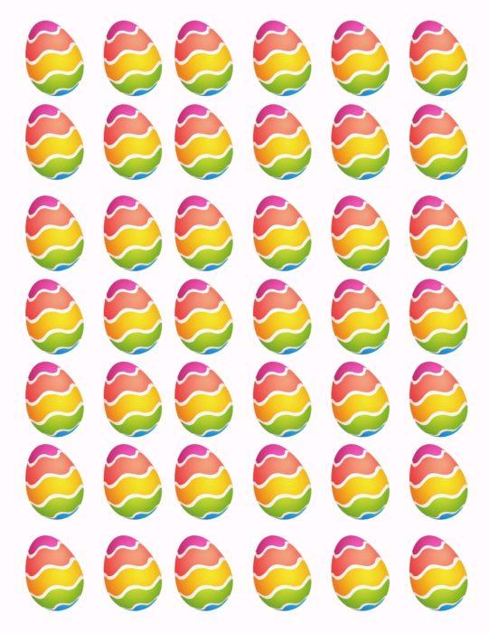 Easter Egg Cone Paper pattern lizbushong.com