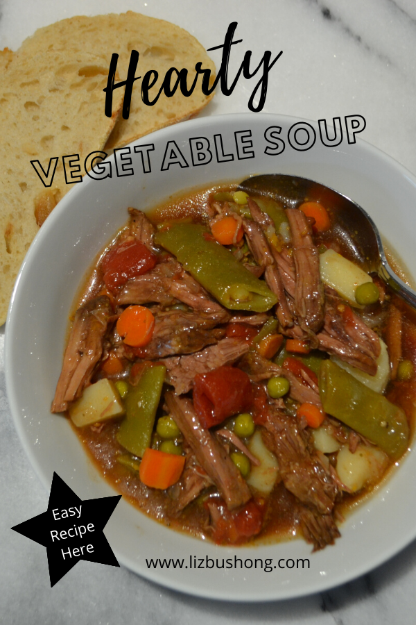 Hearty Beef and Vegetable Soup Recipe lizbushong.com