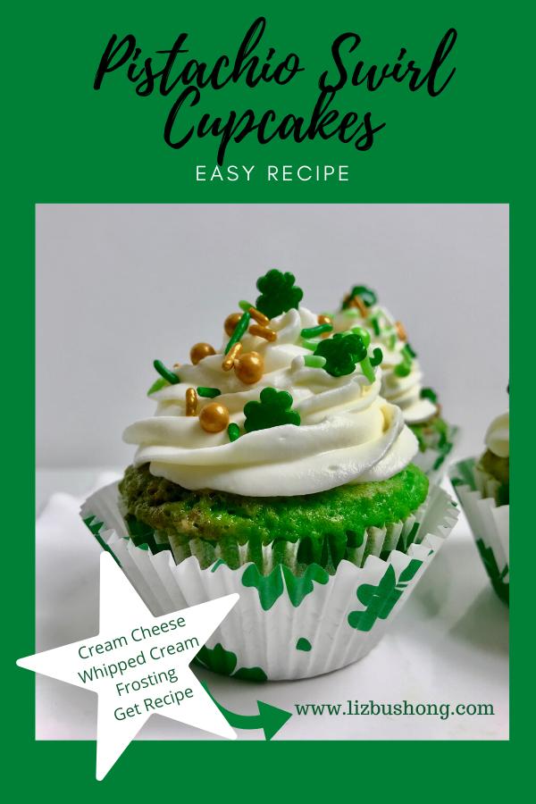 How to Make Pistachio Swirl Cupcakes lizbushong.com