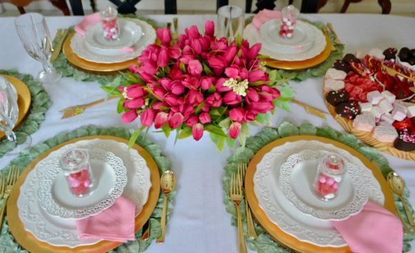 How to set a pretty Spring Table lizbushong.com