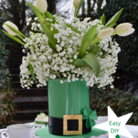 DIY How to Make St. Patricks Day Hat Centerpiece