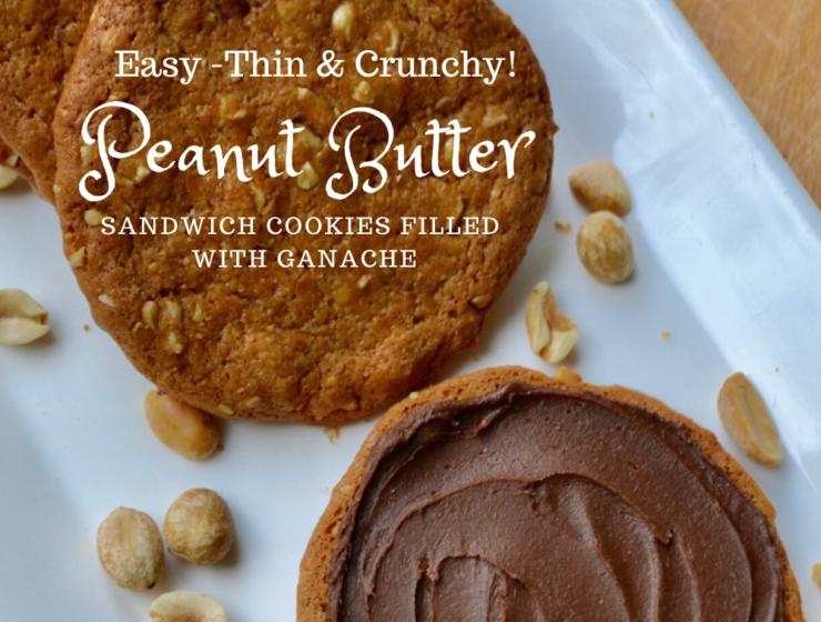 Thin Crunchy Peanut Butter Sandwich Cookies with Ganache Lizbushong.com