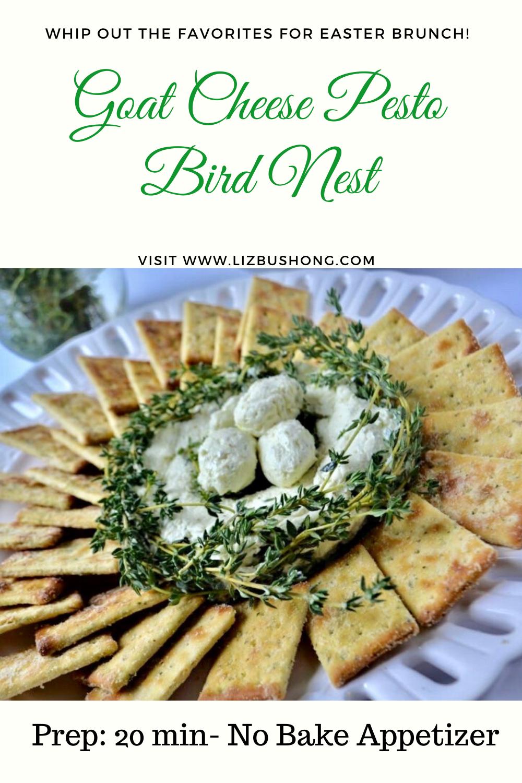 Pesto Goat Cheese Appetizer/4 easy recipes for Easter lizbushong.com