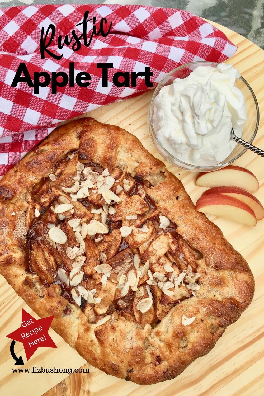 Rustic Apple Tart Recipe lizbushong.com