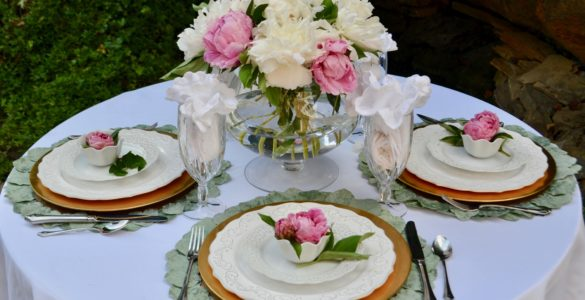 How to Make Peony Tablesetting lizbushong.com