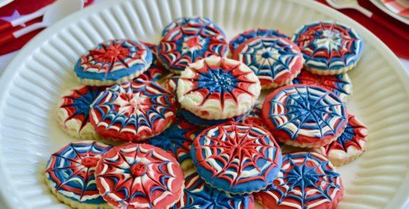 Fireworks Sugar Cookie Platter lizbushong.com
