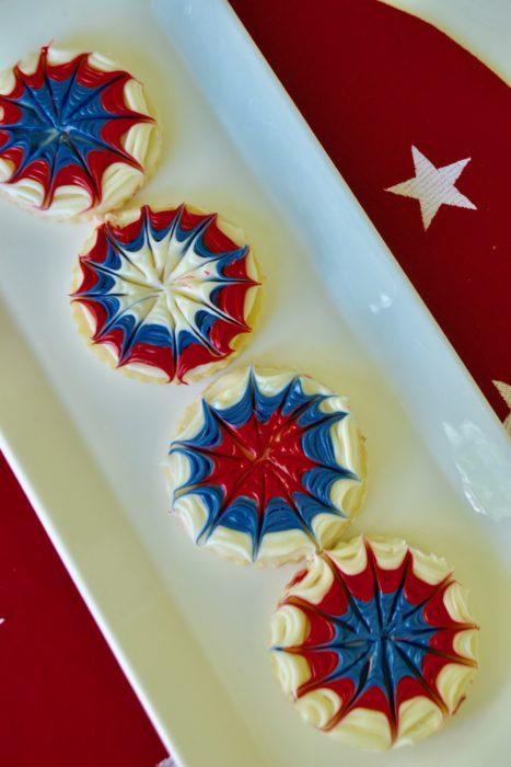 Fireworks Sugar Cookie Tray lizbushong.com