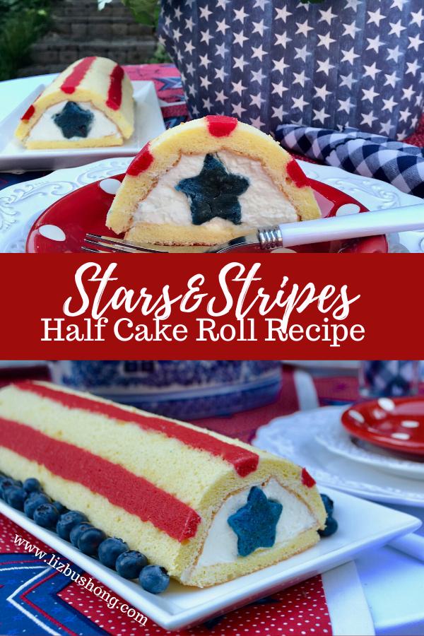 How to Make Patriotic Half Cake Roll lizbushong.com