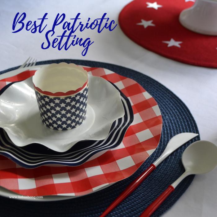 Best Red,White,Blue Place-setting lizbushong.com