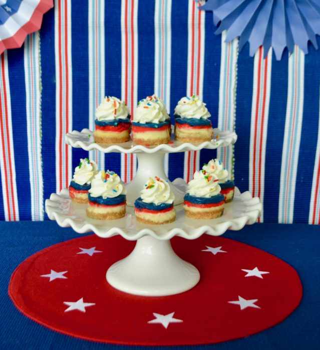 Mini Red, White, Blue Cheesecakes Lizbushong.com
