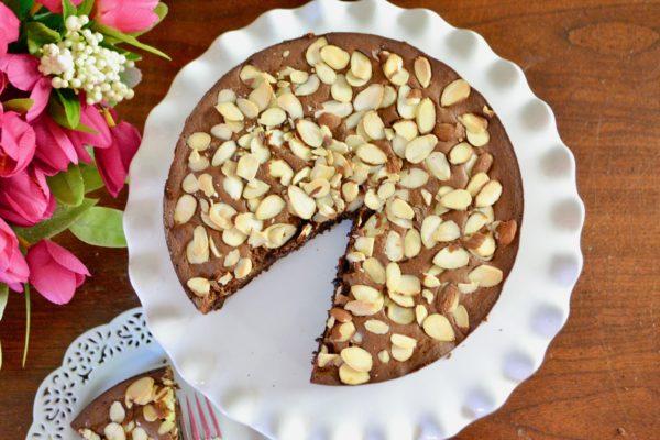 Gluten Free Chocolate Almond Cake lizbushong.com