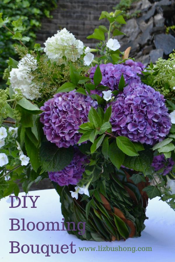 DIY Blooming Hydrangea Bouquet lizbushong.com