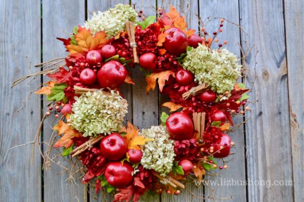 Fall Apple Wreath lizbushong.com