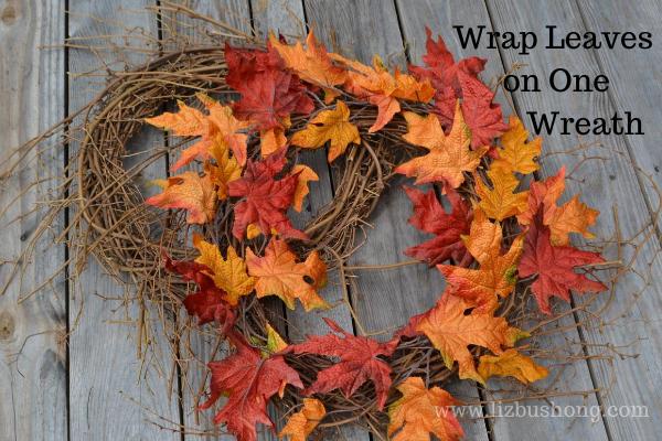 Fall Apple Wreath with leaves lizbushong.com
