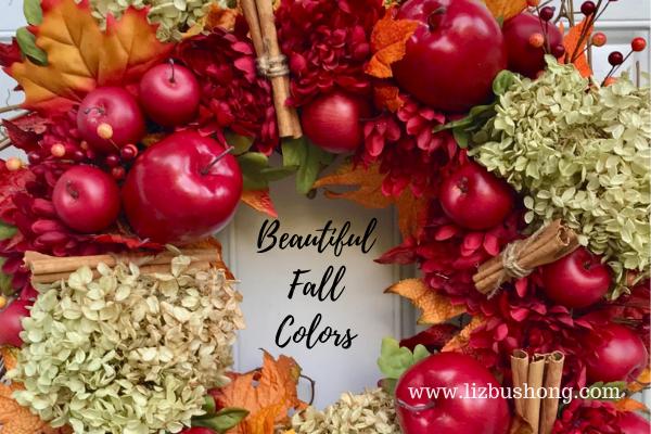 Beautiful Fall Apple Cinnamon Wreath lizbushong.com