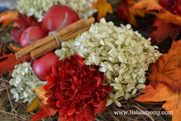 Fall Apple Wreath Close up lizbushong.com