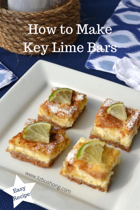 How to Make Key Lime Bars lizbushong.com