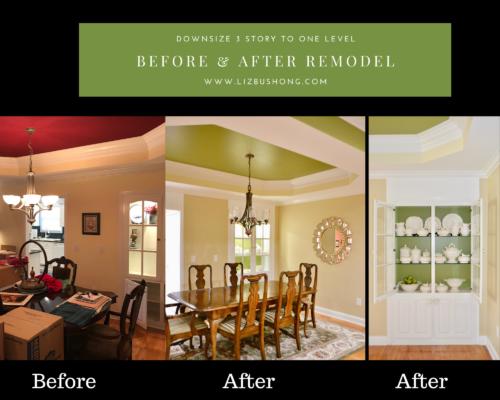 Before after remodel dining room lizbushong.com