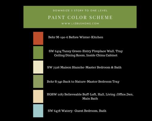 Before after remodel color scheme plan, lizbushong.com