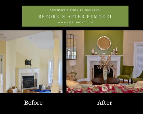 Before and After Living room remodel lizbushong.com