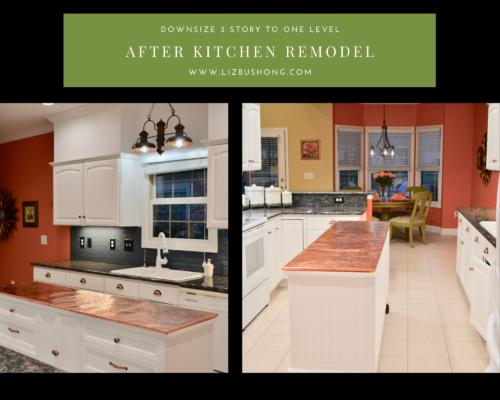 Before and After Kitchen remodel lizbushong.com
