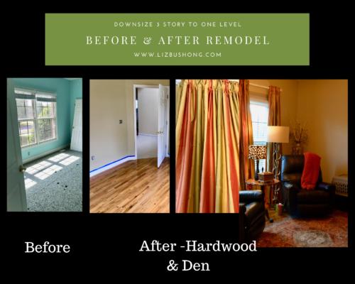 Den before and after remodel lizbushong.com