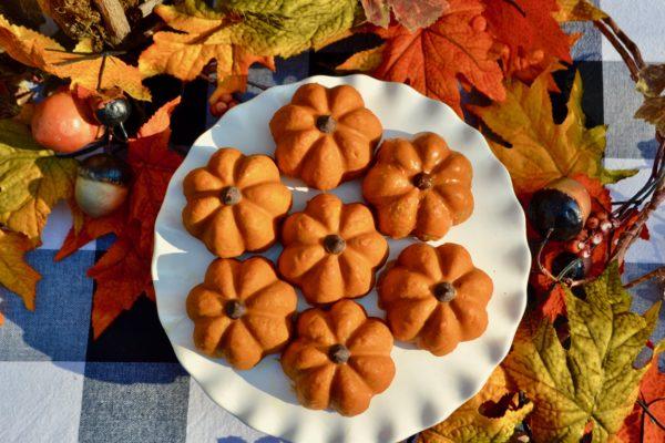 Pumpkin Shaped scones lizbushong.com