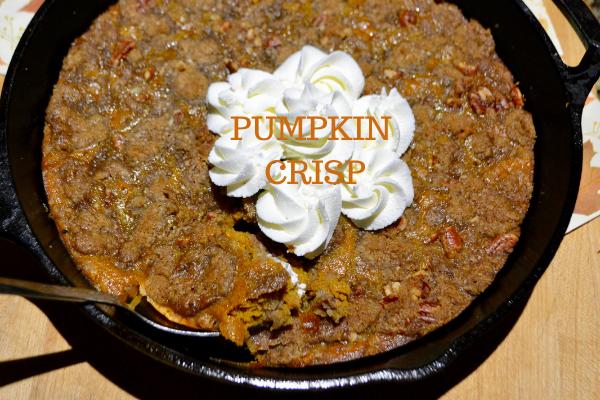 Skillet Pumpkin Crisp lizbushong.com