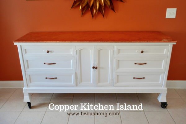 DIY How to make kitchen copper island lizbushong.com
